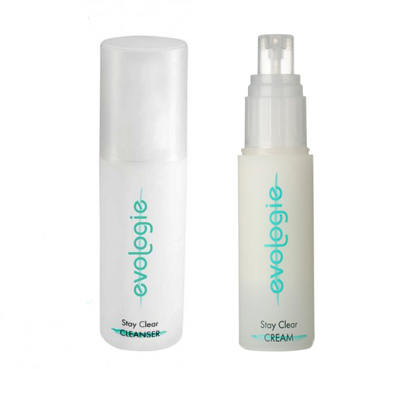 evologie stay clear cleanser and cream