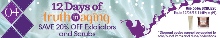 12 Days of TIA | Day 4 | Save 20% on Exfoliators & Scrubs