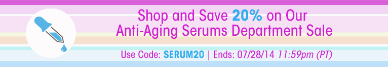 Sale - Shop Our Anti-Aging Serums Dept Sale - Save 20%