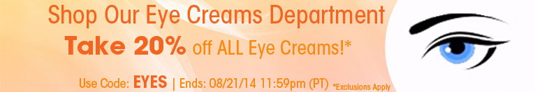 Save 20% on All Eye Creams