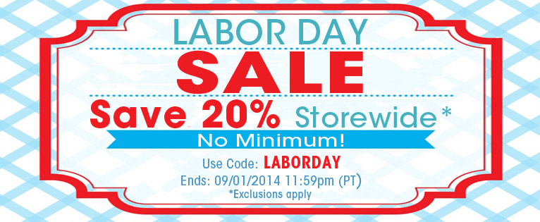 Labor Day Storewide Sale Homepage