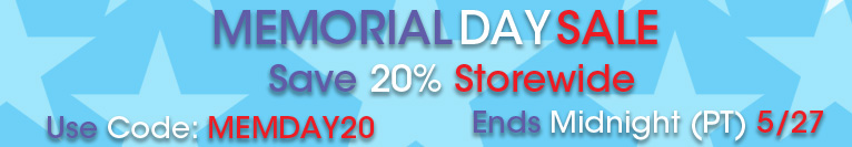Memorial Day Sale - Save 20% Storewide | Use Code: MEMDAY20 | Ends 05/27