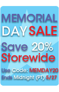 Save 20% Storewide | Use Code MEMDAY20