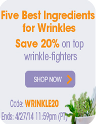 Five Best Ingredients for Wrinkles - Save 20%