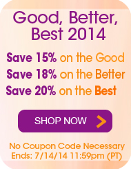 Good, Better, Best - Save up to 20%