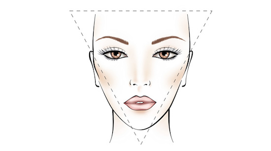 Image result for triangle face aging