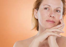 Middle-age woman face and personal care