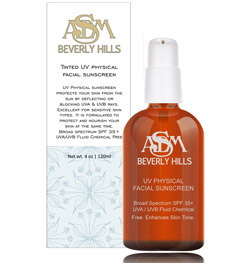ASDM Beverly Hills Tinted UV Physical Facial Sunscreen SPF 35+