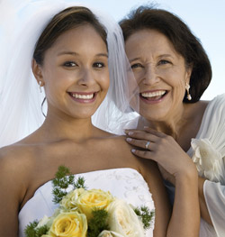Young bride with mother of the bride