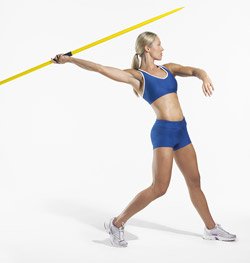 professional female javelin