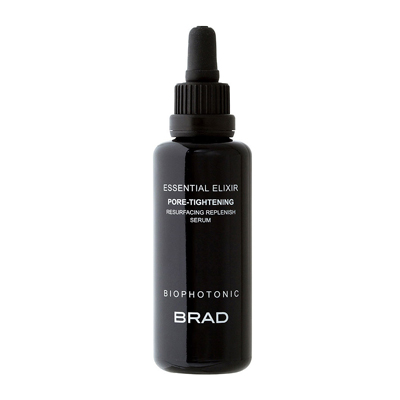 brad biophotonic essential elixir pore-tightening resurfacing replenishing serum