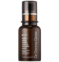 dr dennis gross ferulic + acid wrinkle recovery overnight serum