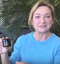 marta holding a jar of brad youth creator gel-cream
