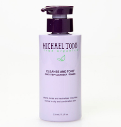 michael todd true organics cleanse and tone one step cleanser / toner