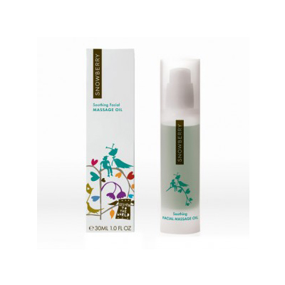 snowberry soothing facial massage oil