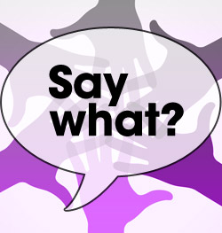 a speech bubble with