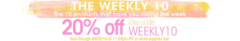 20% Off Weekly 10
