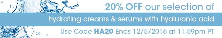 20% off hyaluronic acid (ends 12/5/16)