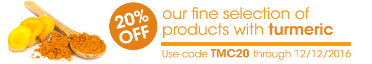 20% off Turmeric (ends 12/12/16)