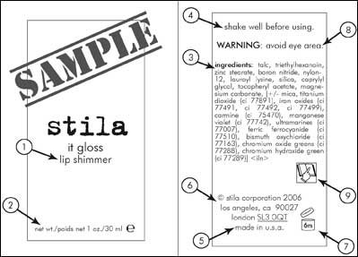 Ingredient Label Rules  What We Are Not Told About Beauty Products  Product Label Sample